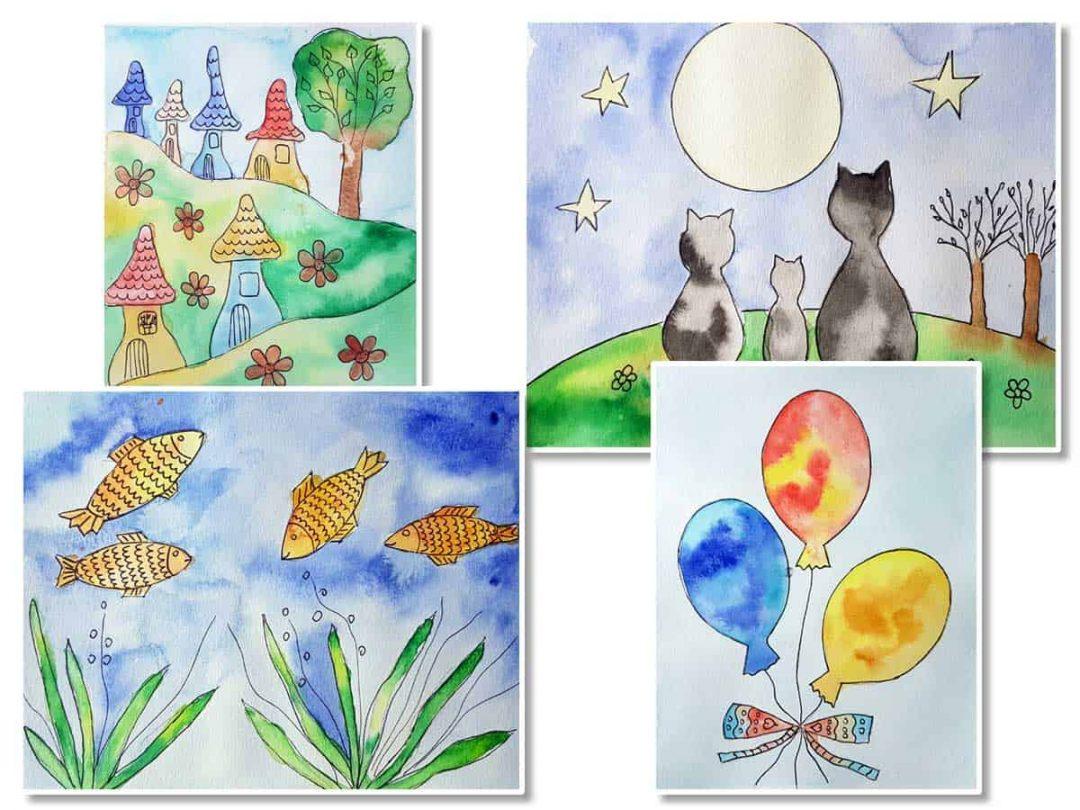 Akvarell tanfolyam gyerekeknek Lamival