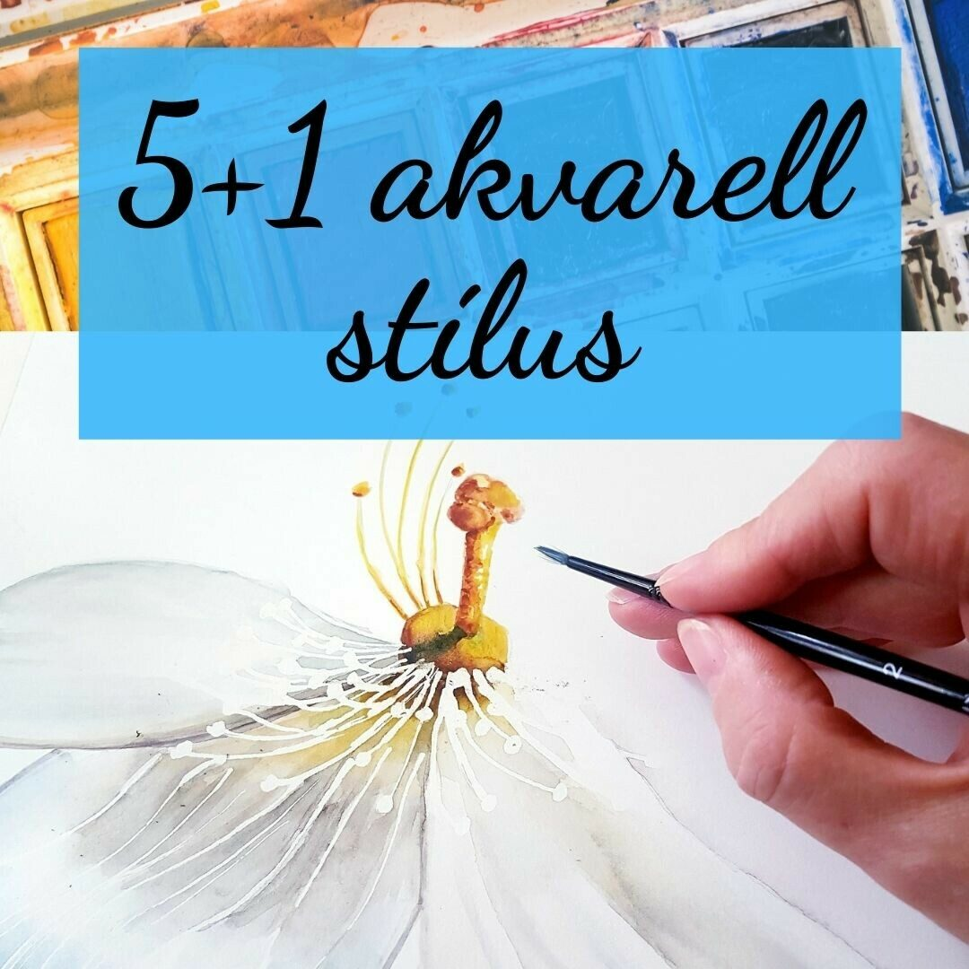 5+1 akvarell stílus